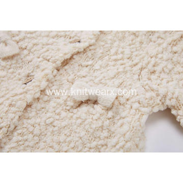 Girl's Knitted Buttoned Bowknot Baby Cardigan