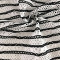 Black White Stripe Jacquard Fabric