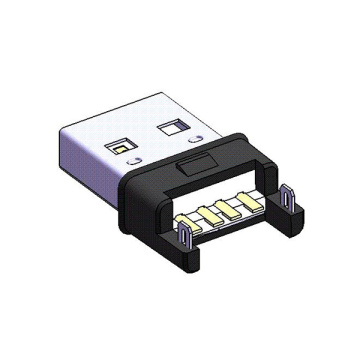 USB A Type Plug + SMT Solder Connector