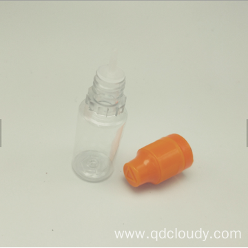 Pet drop bottle with child resistance cap