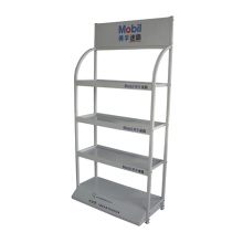 4 Tiered Metal Lubricating Oil Display Rack