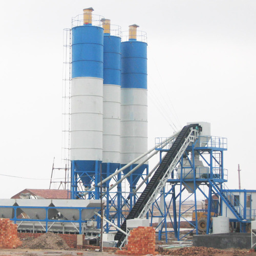 Stationary type HZS60 concrete batching plant