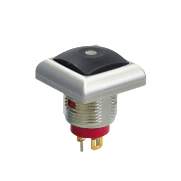 Square Cap IP67 Waterproof Metal Push Button Switch