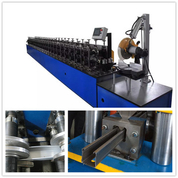Slide Door Guide Rail Metal Shutter Machine