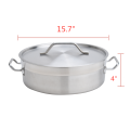 13QT Heavy Duty Stainless Steel Braiser With Lid