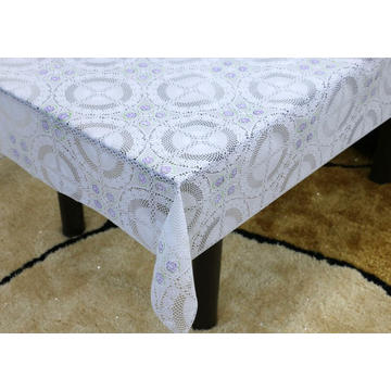oval pvc lace tablecloth by roll