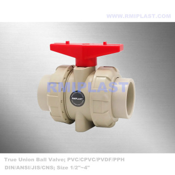 PPH Double Union Ball Valve PN10