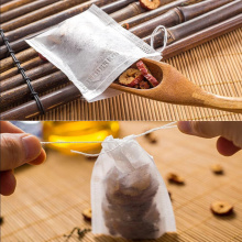 Disposable Tea Bags 100pcs Empty Tea Bags with Drawstring Tea Herb Filter Bag Teabags for Herb Loose Tea Scented Tea Spice