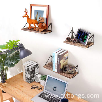 Floating Rustic Wood Shelves Mount Decoration Furniture Wall Shelf