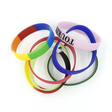 100% Eco Friendly Mixed colors 2019 custom wristband