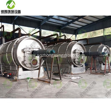 Tyre Rubber Recycling Pyrolysis Process Products