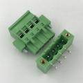 180 degree Vertical PCB terminal block with locking screws