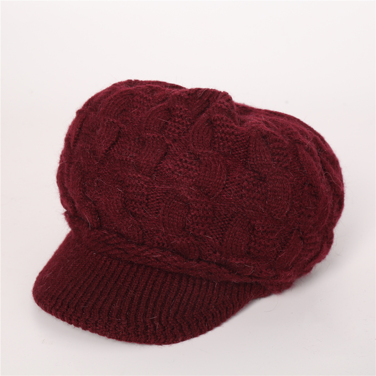 European and American warm rabbit wool knit cap (6)