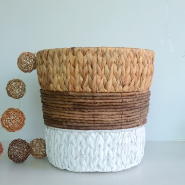 three tone weaving flower basket