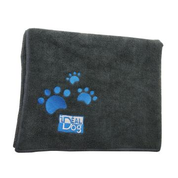 Microfiber dog paw fabric grooming bath towel
