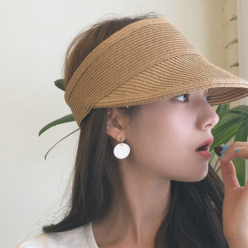 Factory straw summer beach visor cap hat