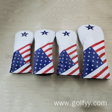 Custom Premium PU Leather Golf Clubs Headcover