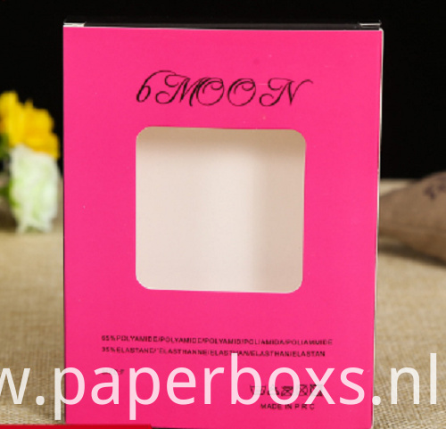 Hair Extension Paper Packaging Box With Pvc Window