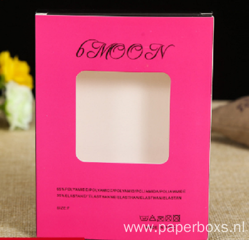 Customized CMYK Printing Hair Extension Box with Window
