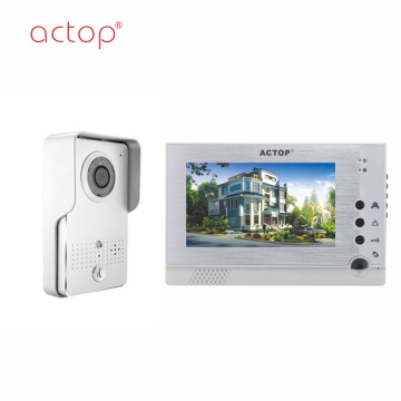 7 inch memory rainproof two way video intercom