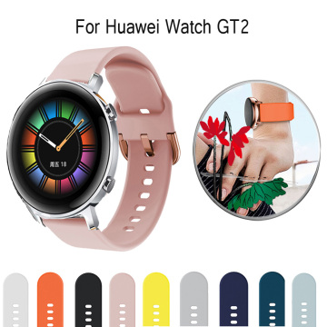 For Huawei Watch GT/GT2 46mm/GT 42mm 46mm Smart Watch for GT242mm watchstrap Silicone Watchbands 20mm 22mm watch band bracelet