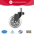 Polyurethane+steel OEM Caster without brake