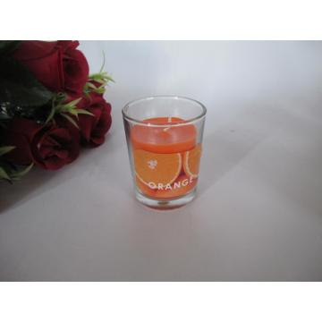 Long Burning Orange Scented Glass candle