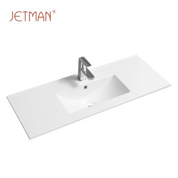 Art ceramic public bathroom sinks vanity square wash basin
