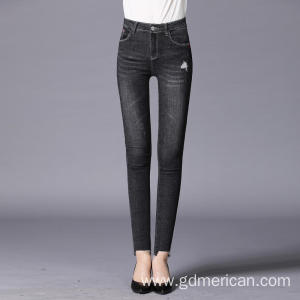 Soft Skinny Friendly High-Stretch Black Skinny Pencil Ladies Jeans