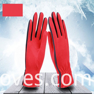 Fleece Gloves Red 1