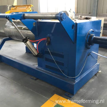 Full-automatic steel coil 10 Ton Hydraulic decoiler / uncoiler