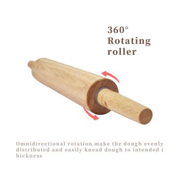"4 Pack of 17"" Wooden Roller Rolling Pin"