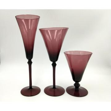 solid color hand made martini glass cup