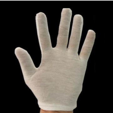 White Cotton Disposable Gloves
