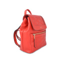 Women  Pure Color  Multi-function Cowhide Backpack