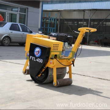High quality mini used pedestrian vibratory small road roller for sale FYL-450
