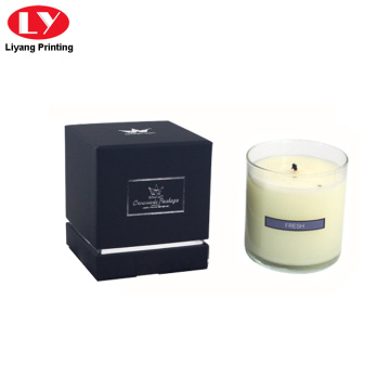 Luxury custom logo candle packaging gift box