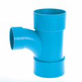 Fresh Material UPVC JISK-6739 Drainage Long Tee Blue