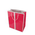 Custom Recyclable Shopping Handle Kraft Paper Bag Shop