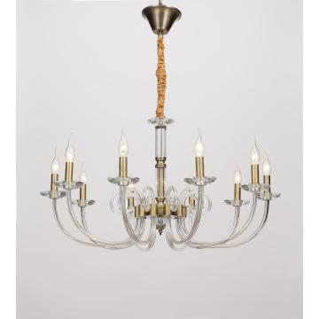 Fashionable Living Room Project Design Glass Iron Chandelier