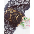 Black Stretch Jacquard Tronic Lace Fabric for Intimates