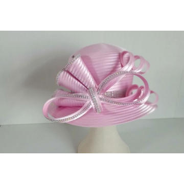 Women's Satin Ribbon church Millinery Dress Formal Hats