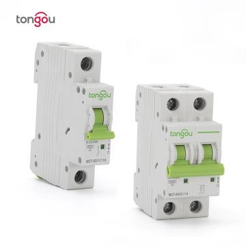 Type D 1P 2P 6A 10A 16A 20A 25A 32A 40A 50A 63A Circuit Breaker 6KA 110V/220V/400V 50/60HZ MCB Overcurrent Protection Switch