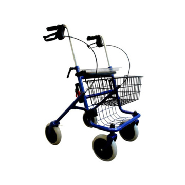 high quality steel four-wheel rollator