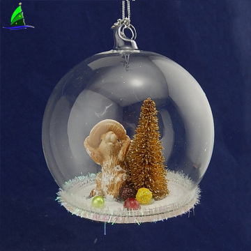 glass ball with squirrel for Christmas gift