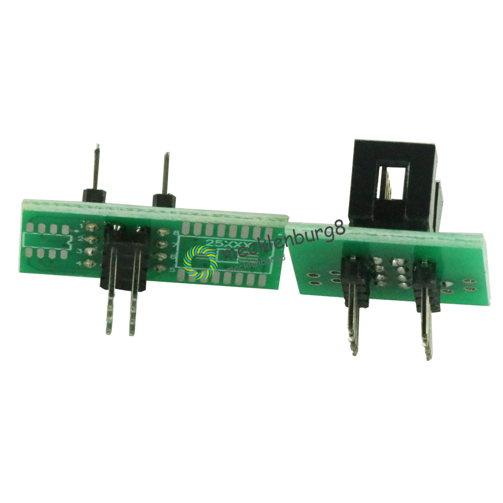 SOIC8 SOP8 version update clamp tests for EEPROM 93CXX / 25CXX / 24CXX in-circuit Programming + 2 adapters