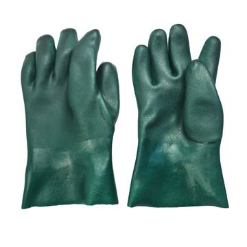 Green PVC chemical gloves 11''