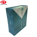 Folding magnetic paperboard square scarf box