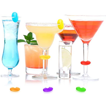 Silicone Wine Glass Charms Markers Drink Markers