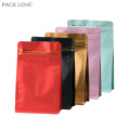 matte flat re-sealable zipper aluminum foil plastic bag